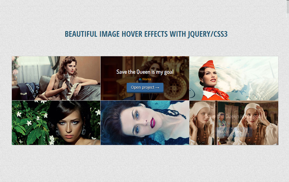 Beautiful Image Hover Effects with jQuery/CSS3