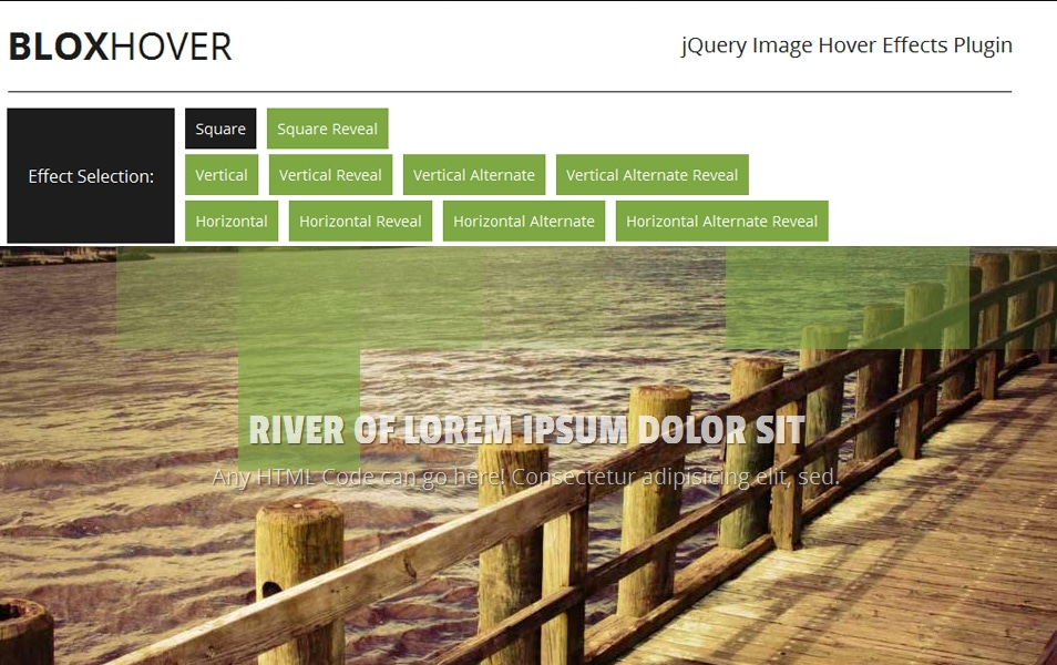BloxHover - jQuery Image Hover Effects