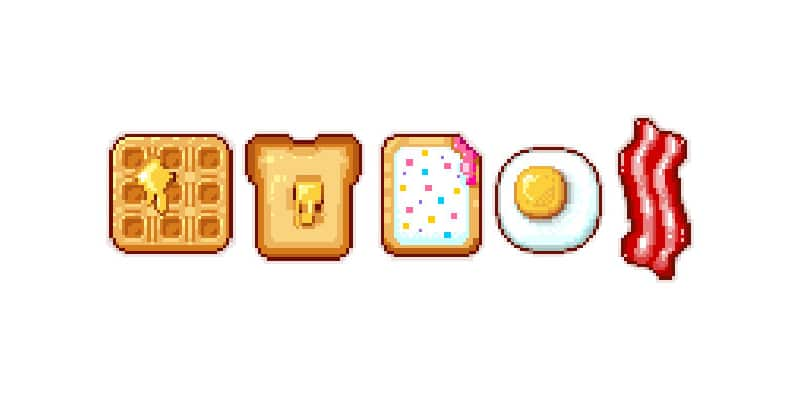 Create a Series of Breakfast Pixel Art Icons in Adobe Photoshop