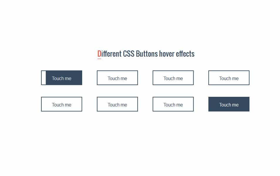 CSS Buttons hover effects