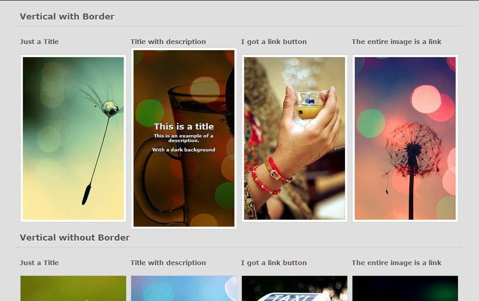 CSS3 Image - Text Hover Effects