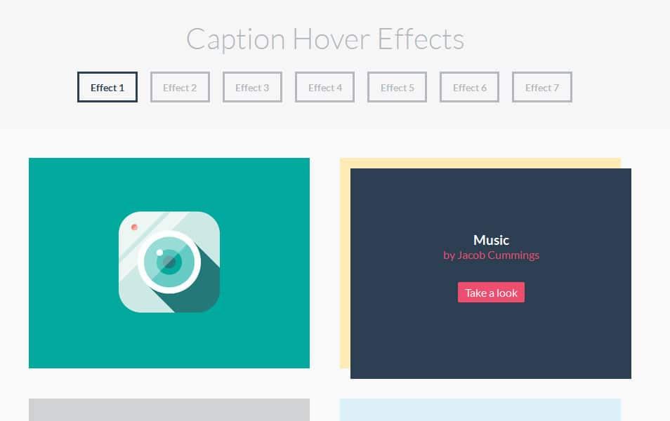 Caption Hover Effects