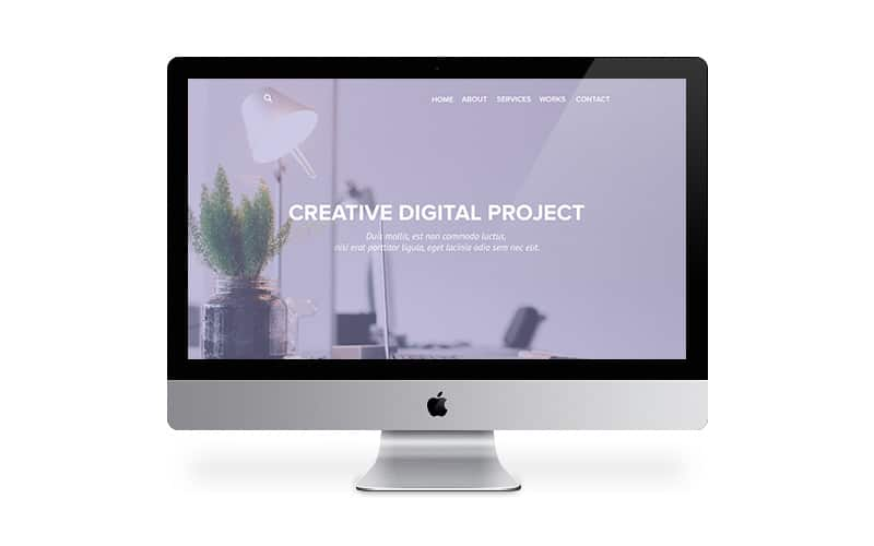 Clean & Flat Web Portfolio Web Template PSD