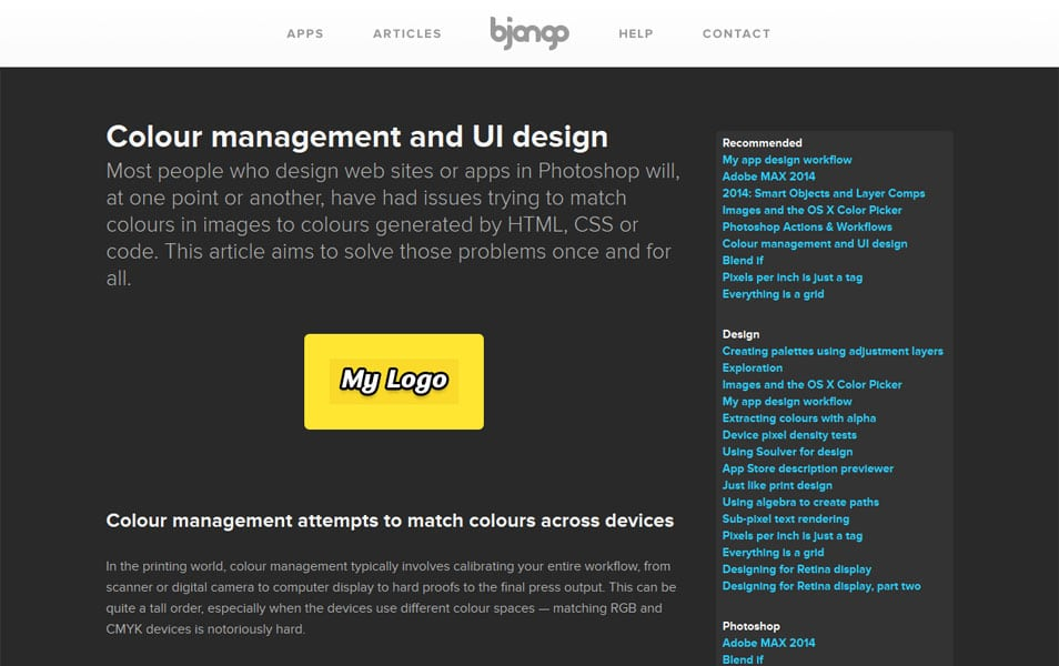 Colour management and UI design