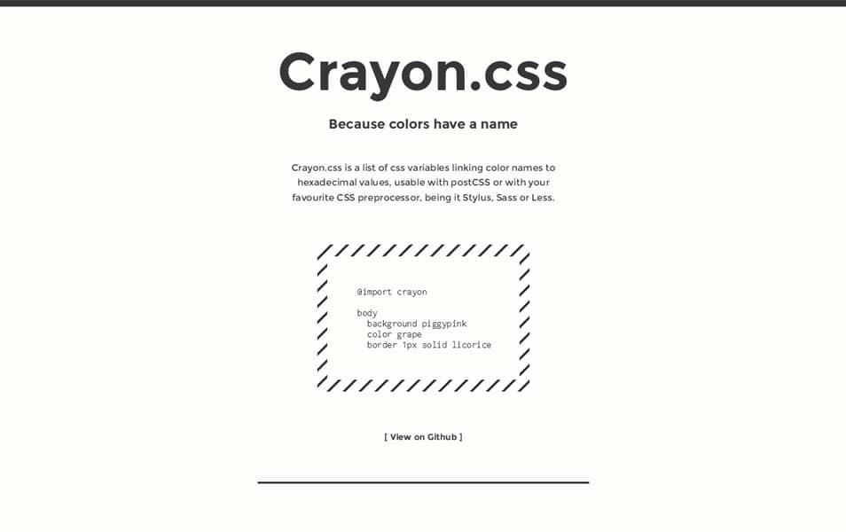 Crayon.css