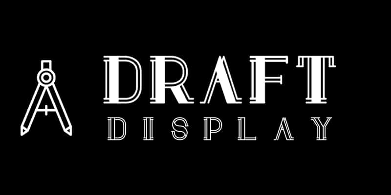 Draft Display Free Font