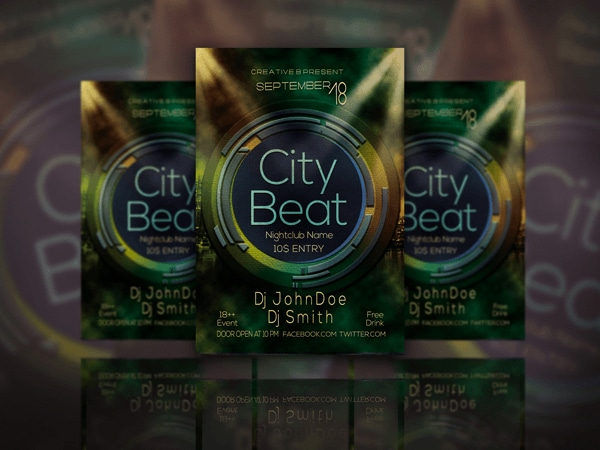 Exclusive City Beat Flyer Template PSD
