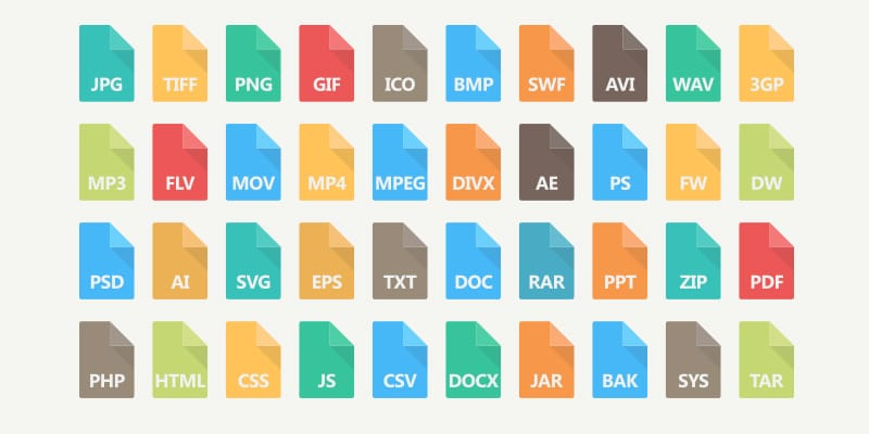 File Type Vector Icons