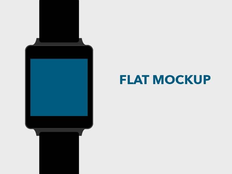 Flat LG G Watch Mockup PSD