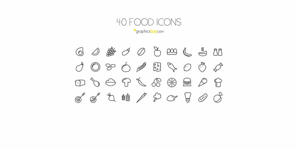 Food Icons PSD