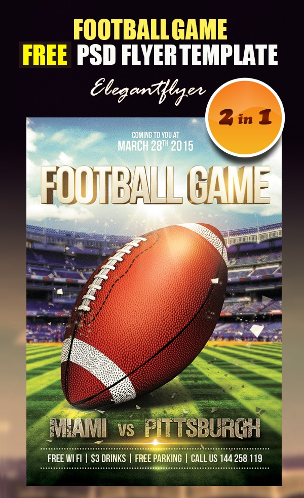 Football Game – Free Flyer PSD Template