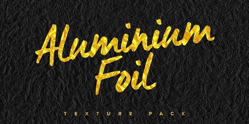 Free Aluminium Foil Textures Pack