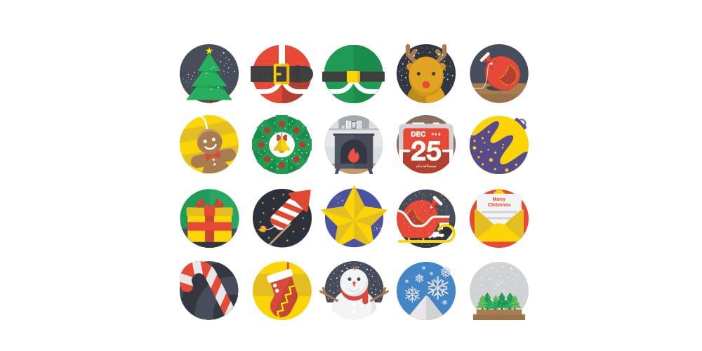 Free Christmas Flat Icons