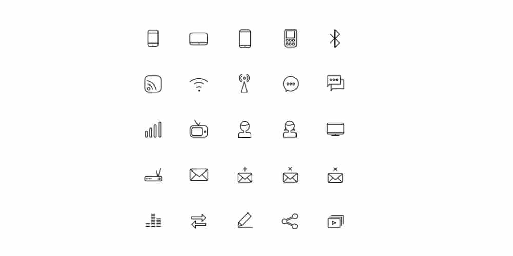 free-communication-icons