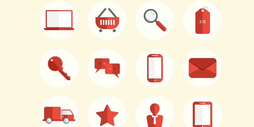 Free E Commerce Pixel Perfect Flat Icons