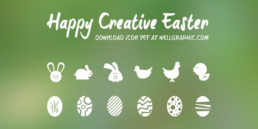 Free Easter Vector Icon Set PSD