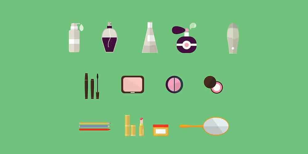 Free Flat Cosmetics Icons