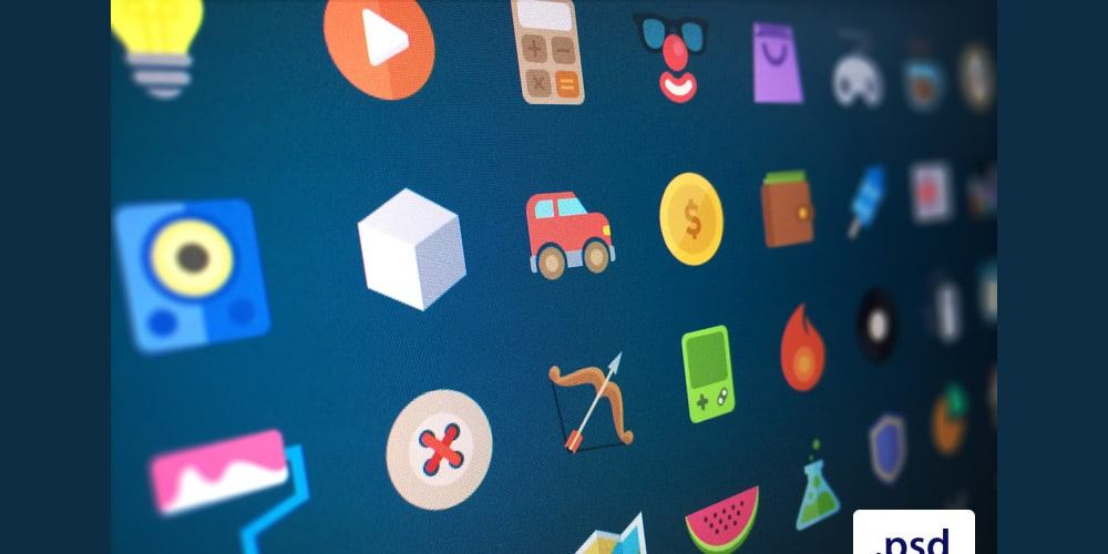Free Flat Icons PSD