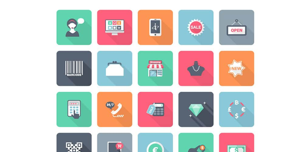 Free Flat Shopping Icons