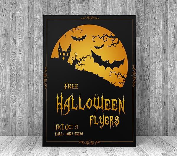 Free Halloween Flyer Template PSD
