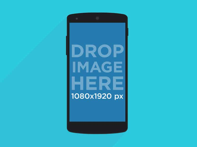 Free Illustrated Nexus 5 Mockup PSD