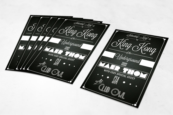 Free King Kong Typographic Flyer PSD