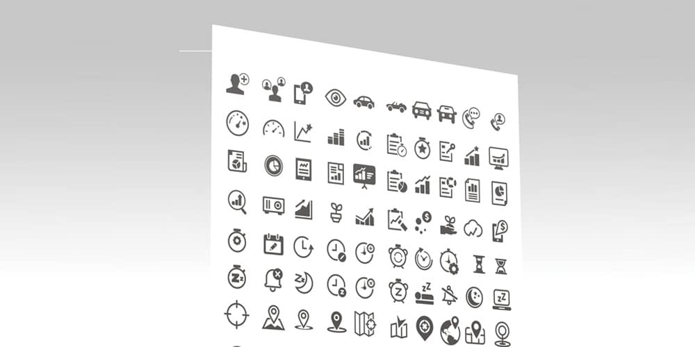 Free Mixed Generic and Custom Wireframe Icons