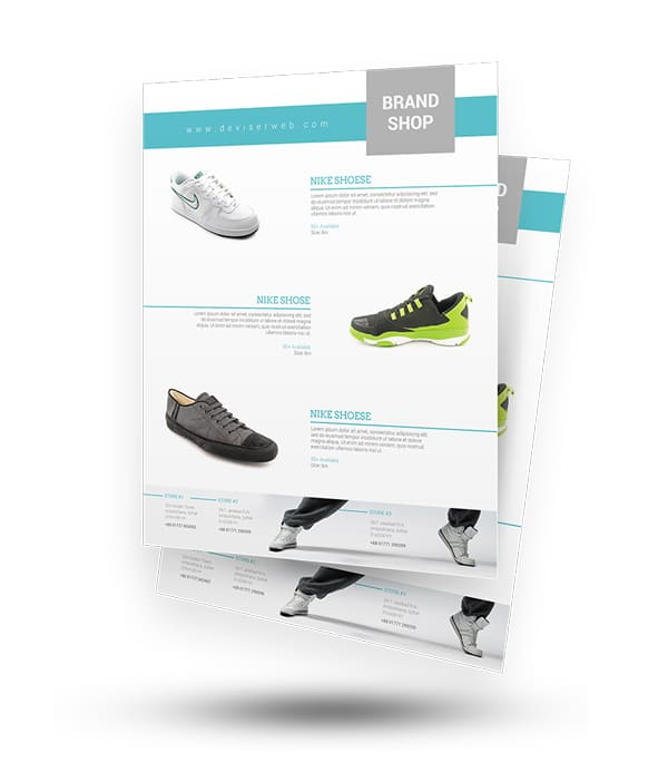 Free Product Showcase Flyer/Poster Template PSD