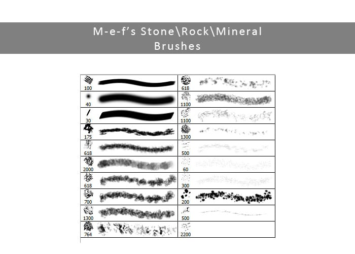 Free Rock Brushes