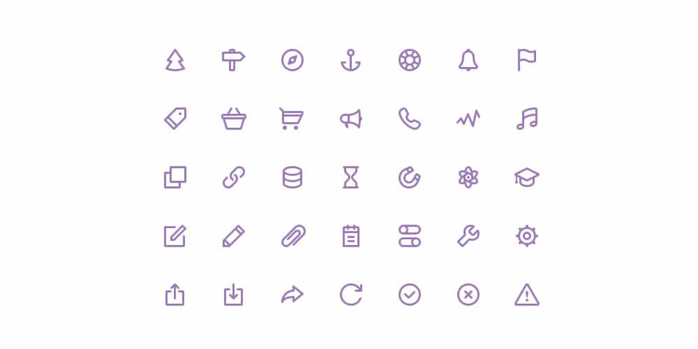 Free Stroke Icons PSD