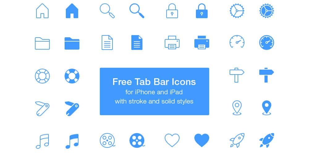 Free Tab Bar Icons PSD