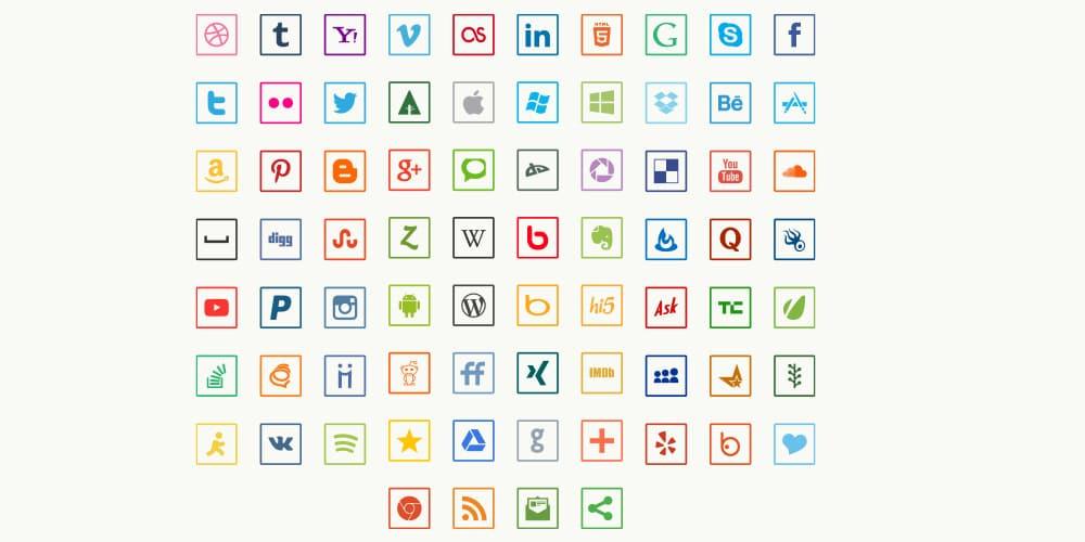 Free Thin Social Media Icons