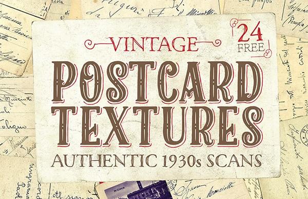 Free Vintage Postcard Textures