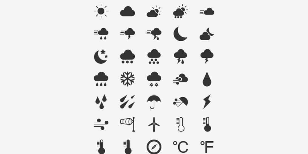 Free Weather Vector Icons