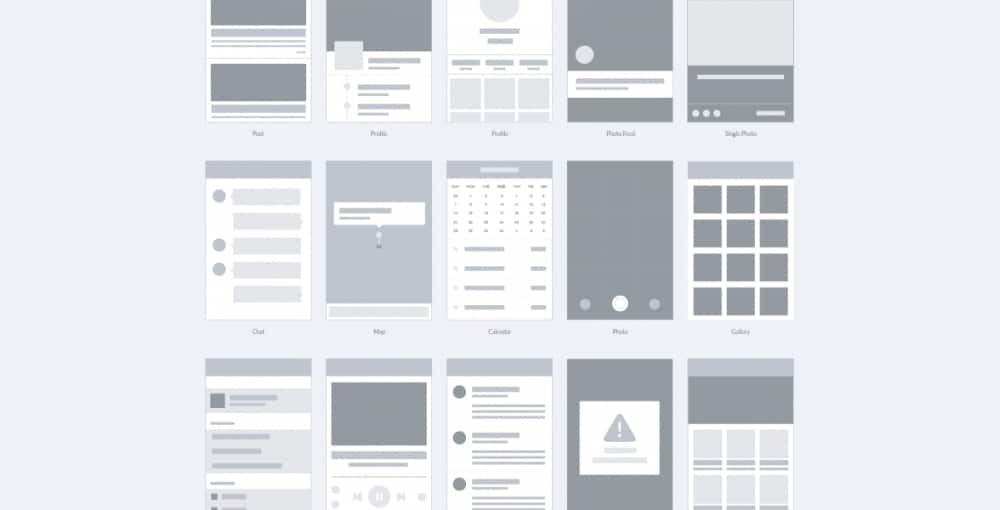 Free Wireframe for Apps