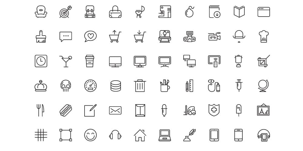 Free iOS8 Vector Icons