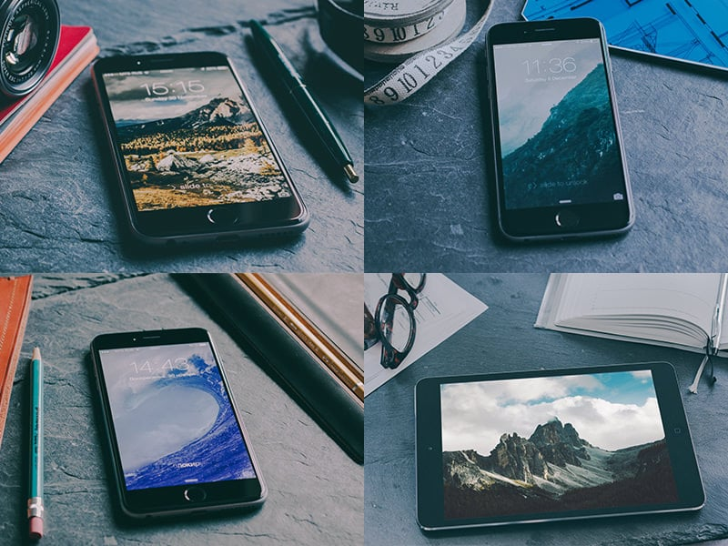Free iPhone 6 & iPad Mockups