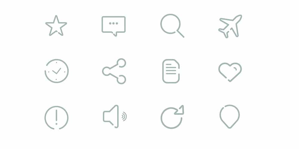 Gap Icons PSD