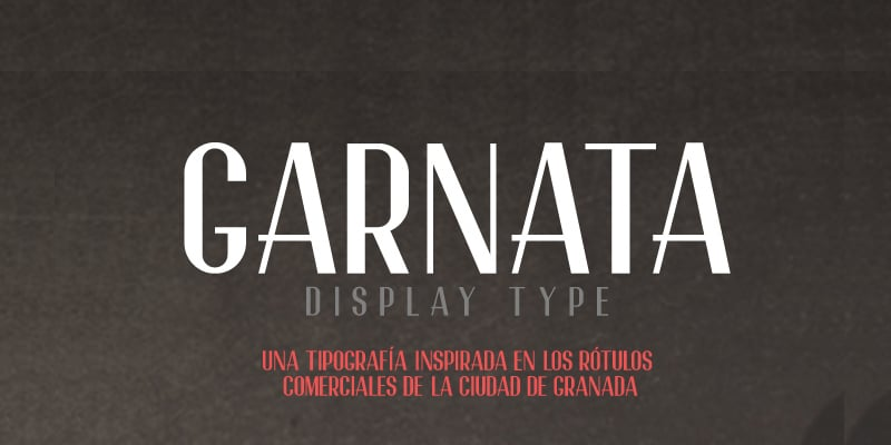 Garnata Display Free Font