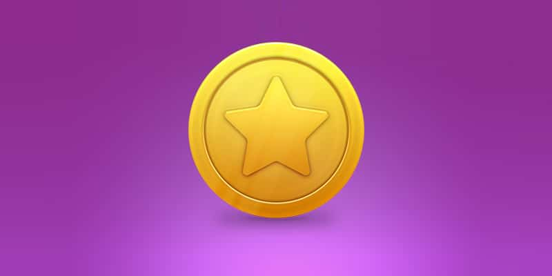 Create a Shiny Gold Star Coin in Photoshop