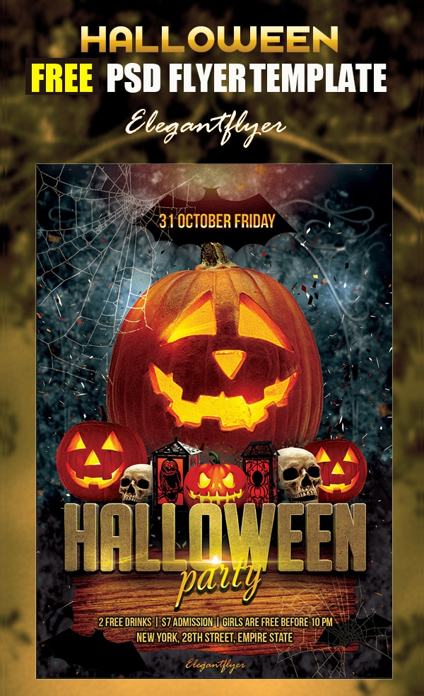 Halloween Party – Free Flyer Template PSD