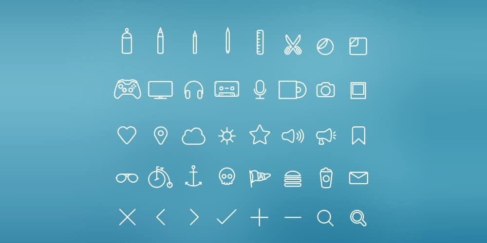 Hangloose Icon Set PSD