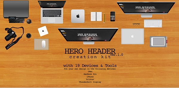 Hero Header Creation Kit PSD