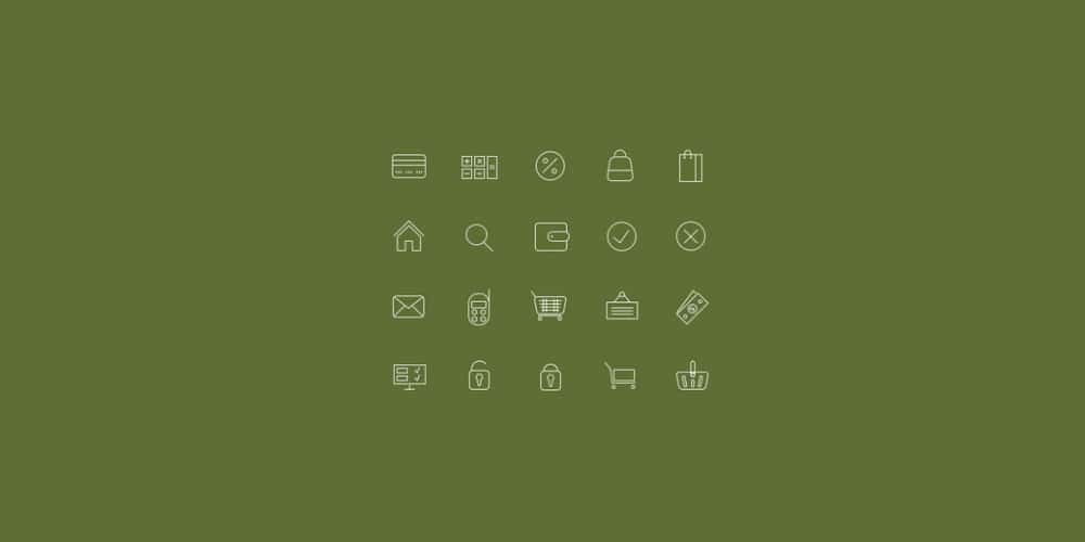 Icons for Online Shops