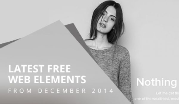 Latest Free Web Elements From December 2014
