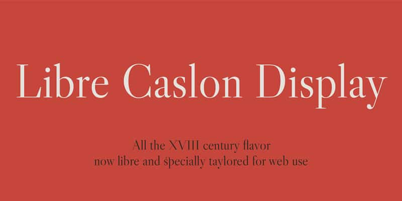 Libre Caslon Display