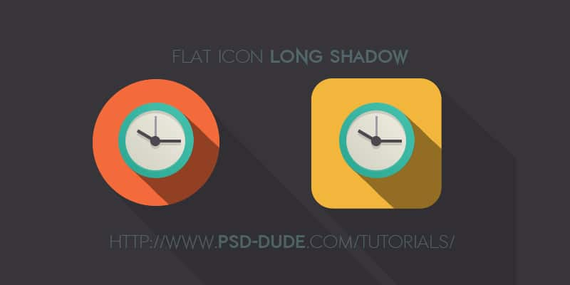 Long Shadow Flat Icon