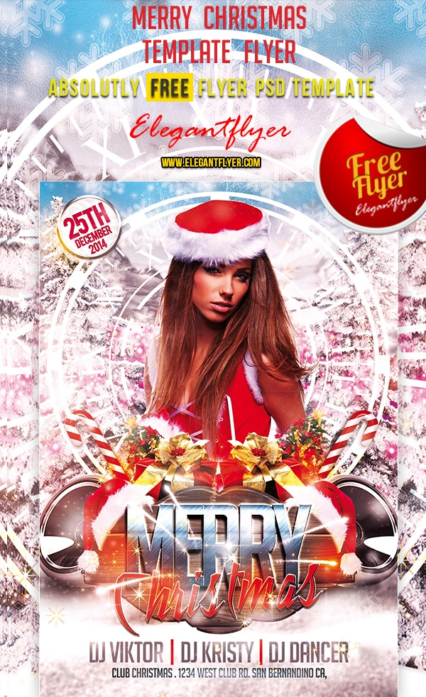 Merry Christmas – Free Club and Party Flyer PSD