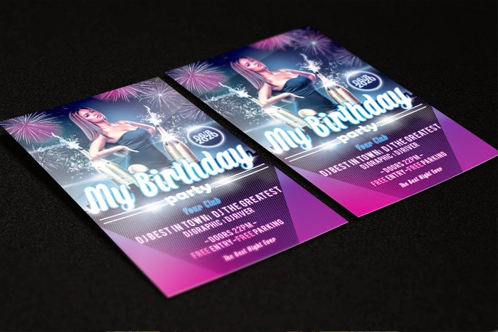 My Birthday Party Flyer Template PSD