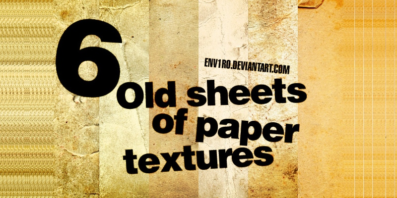 Old sheets of Paper Textures